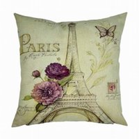 Wholesale Paris tower and rose of Pillowcase