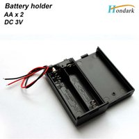 battery holder aa switch - 2 Wire Leads ON OFF Switch Black x1 V AA Battery Holder Case w Cover