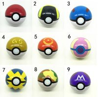 Wholesale 13 Styles ABS Action Anime Figures cm pikachu figure PokeBall Fairy Ball Super Ball poke Ball Kids Toys Gift