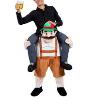 beer funny - Bavarian Beer Man Mascot Costume Carry Me Character Fancy Dress Ride On Halloween Costumes Funny Clothing