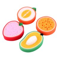 Wholesale High Quality Cartoon Fruit Sharped Washing Cleaning Sponge Bowls Dish Pan Washing Cloth Kitchen Cleaning Tools