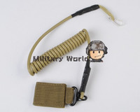Wholesale Airsoft Tactical Single Point Pistol Handgun Spring Lanyard Sling Quick Release Shooting Hunting Army Combat Gear Black Tan