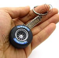 auto parts wheel - Car Tyre casing Keychain Brand Car Logo Keyrings Auto Parts Wheels Key Chain Ring