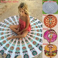 bath lighting design - 150pcs High Quality Designs Round Donut Pizza Hamburger Towel Beach Cover Ups Sexy Beach Towel Chiffon Swimsuit Cover Up Yoga Mat