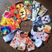 Wholesale 42 Types New Fashion D Print Ankle Socks Hot Sale D Printed Short Socks Slippers Women D Colorful Sock D Ankle Socks M38