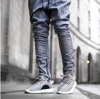 achat en gros de vêtements pour hommes casual urbain-2016 Pantalons Justin Bieber Kanye Peur de Dieu Pantalons Mens Joggers Jumpsuit Urban Vêtements Casual Harem Hommes Pantalons