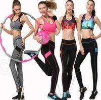 active yoga wear - LJJL219 Women Outdoor YOGA Running Sport Pants Leggings Fitness Trouser Workout Ladies Gym Wear Elastic Trousers