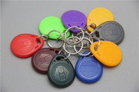 Wholesale new proximity khz abs rfid key fob key tag ring tk4100 Plastic Key Chain for access control