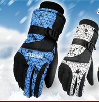 Wholesale 1Pair Head gloves men s ski gloves Snowboard gloves Snowmobile Motorcycle Riding winter gloves Windproof Waterproof unisex snow gloves