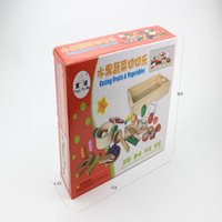 Wholesale Toys To Me Wooden Cutting Fruits and Vegetables Toy Playset Pretend Play for Kids w Storage