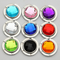 Wholesale 14 Colors Zinc Alloy Fashion Foldable Metal Handbag Purse Hanger Hook Holder mix Colors