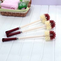 bathroom cleaning brush - New Arrival Plastic Long Handle Cleaning Brush Bathroom Toilet Bowl Brush Scrub Double Side Closestool Cleaning Tool JG0052
