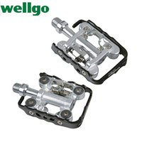 bicycle pedals wellgo - Wellgo Lightweight Dual sided Mountain Bike Mtb Bicycle Bearings Pedales Hot Real Direct Selling Spd Pedals Bicicleta Parts