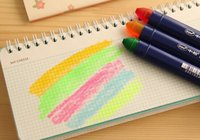 album solid color - Candy color Solid jelly highlighter pen Inkless markers pen Highlighter album scrapbooking diy Gift Stationery School supplies