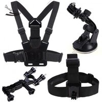 Wholesale 4 in Accessories Chest Belt Head Strap Handheld Monopod Mount for Gopro HD Hero