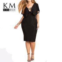 big plunge - Kissmilk Women Plus Size Chest Cross Plunge Neck Big Large Size XL XL XL XL Sexy Slim Bodycon Summer Dress