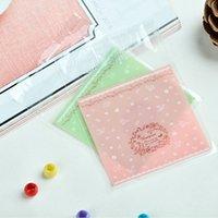 Wholesale 10 cm Green Pink Plastic Bag Dessert Biscuit Padking Bags Gift Bags Lovely Fine Bags Cookies Dessert Soap Baking Bags OPP Ziplock