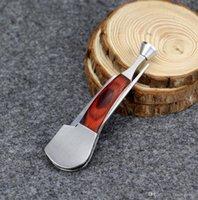 Wholesale 10pcs Multi function Red Wood Smoking Tool Multifunction Stainless Steel Smoking Knife Smoking Pipe Cleaner Wood Pipe Cleaning Tool
