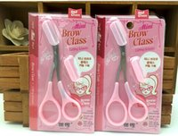 Wholesale New Mini Brow Class end Eyebrow Trimmer Eyebrows aid Eyebrow cutting scissors from dora