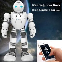 Wholesale Original UBTECH Alpha S DOF Intelligent Programmable Humaniod Robot with D Visual PC Software and Bluetooth Control Function RM5062