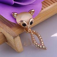 animal han - To be enchanting nine tailed fox raccoon dog diamond earrings stud earrings female new han edition fashion temperament earrings gift