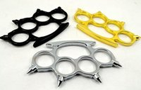 Wholesale sharp Thin Steel Brass knuckle dusters Self Defense Personal Security Women s and Men s self defense Pendant