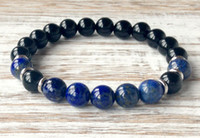 balance protection - SN1053 AAA Black Onyx Grade Lapis Lazuli Bracelet Heart Chakra Yoga Jewelry Protection Emotional Balance Self Expression Jewelry