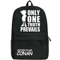 Detectuve Conan sac à dos de l'école Noir vérité Cartoon daypack Cartable sac à dos sac à dos Outdoor Sport