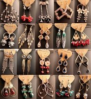 alloy different - Hot sale lowest price crystal diamond tassel different style women earrings for party