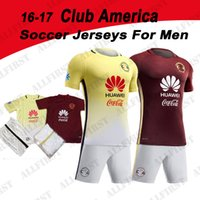 Wholesale 16 Mexico Club America Soccer Jersey Men C BLANCO home away D BENEDETTO R SAMBUEZA O PERALTA P AGUILAR Soccer Uniforms Kit