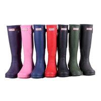 wellies - Top Quality Rainboots Hunter Wellies Boots Women Boots Best Selling Ms glossy Hunter Wellington Rain Boots