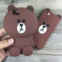 bear protection - Iphone63D cartoon easy bear silicone mobile phone protection shell