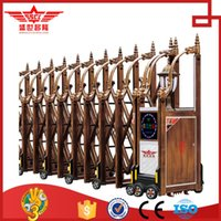 aluminum gates fences - Aluminum Electric Retractable Fence Gate With Chinese Retro Style L1526