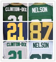 Cheap Men's American football Elite jerseys Green Bay 87#Nelson 21#Clinton-Dix Free shipping High quality The traditional embroidery