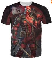 badass t shirts - 2016 New Arrive American Comic Badass Deadpool T Shirt Tees Men Women Cartoon Characters d t shirt Funny Casual tee shirts