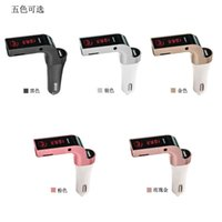 Wholesale The latest Bluetooth Car Handsfree FM Transmitter Radio MP3 Player USB Charger AUX Red LED