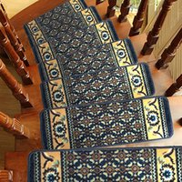 Wholesale New Arrival pc Rectangle Non Slip Mats Rugs for Stairs Floor Mats Living Room Doormat Staircase Carpets Pastoral Style Tapete JI0102