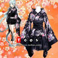 Wholesale Vocaloid Cosplay Sakura Matsuri Costume Lolita Women s Dress Kimono Rode Gown Evening Dress