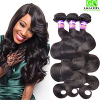 beauty wavy hair - Unprocessed Brazilian Virgin Hair Body Wave Bundles Brazilian Wavy Hair Remy Human Hair Weaves Hot Beauty Products No Shedding No Tangle