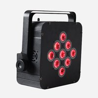Wholesale 6pcs a wireless battery par led light in1 in1 Infrared Remote Control Battery Powered led Slim Par Light
