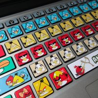 Wholesale Angry bird macbook sticker macbook decal keyboard Decal Skin Air Pro retina