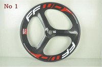Wholesale Factory Price Cheap Hed Wheels Clincher Carbon Spoke Wheel mm Tri Spoke Track Wheelset With Fixie Hub