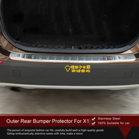 Wholesale High Quality Stainless Steel Outer Rear Bumper Protector Auto Accessories FOR X1