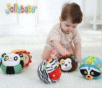 Wholesale animals Ball Coloured Soft Plush Baby Rattles Sound Mobiles Toys Infant bebe Gift Training Educational Music