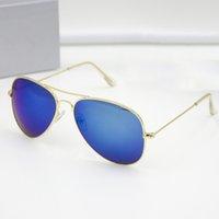 al por mayor mujer con espejo gafas-Gafas de sol espejadas de la manera de las mujeres de los hombres de la marca de fábrica de la marca de fábrica con la caja original gafas de sol oculos