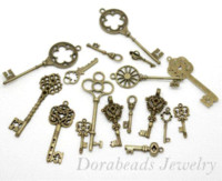 Wholesale hot Mixed Antique Bronze Key Charms Pendants x13mm x20mm B13922 Pendants Cheap Pendants Cheap Pendants