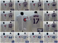 Wholesale A Chicago Cubs men Ron Santo Kris Bryant Schwarber Ernie Banks Jason Heyward Anthony Rizzo Jake Arrieta signature jersey