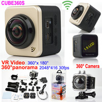 action shooting sports - 360 VR shooting HD Wifi Action Camera Waterproof Sports Camera degree fps Video x180 Panoram Cameras Lens LCD Helmet Cam
