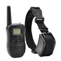 Wholesale 10pcs M Rechargeable Waterproof Electronic Pet Dog Training Collar Level Shock Vibra Remote with LCD Display DR Free DHL