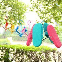 Wholesale 48 Pieces Creative hanging shoe rack Folding bask in shoe rack plastic multi purpose household supplies